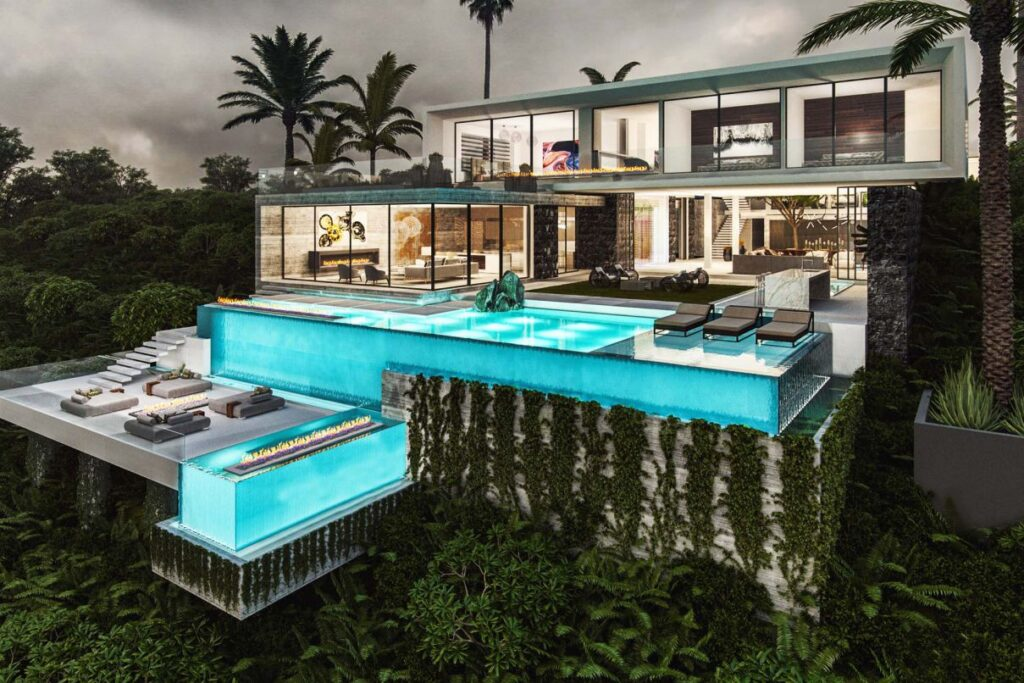 Upper Trasher Residence Concept, Los Angeles by Bowery Design Group
