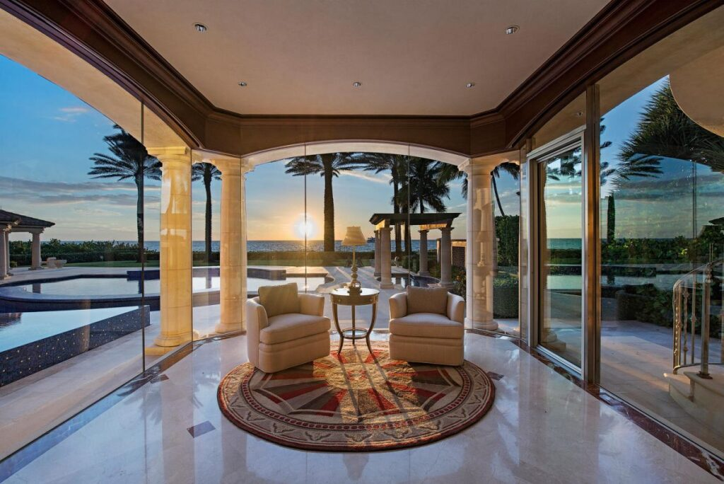 A Significant Beachfront Home in Naples FL built by A. Vernon Allen Builder