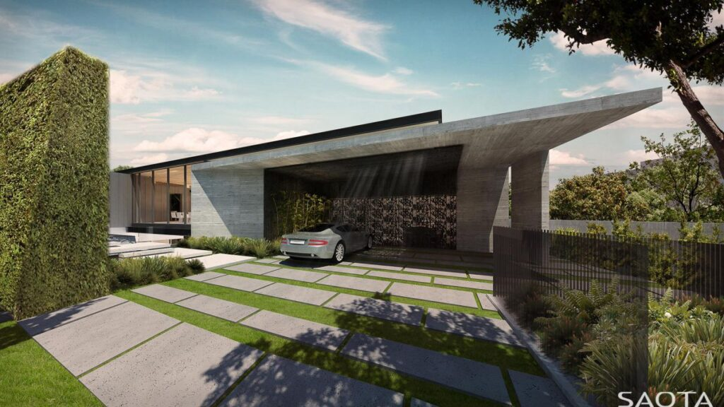 Architecture Concept of Wallace Residence in Los Angeles by SAOTA