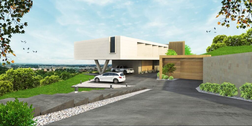 Conceptual Design for Modern Villa in Budapest, Hungary by Toth Project