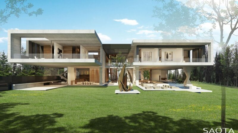 Conceptual Design of Nik Villa in Moscow, Russia by SAOTA