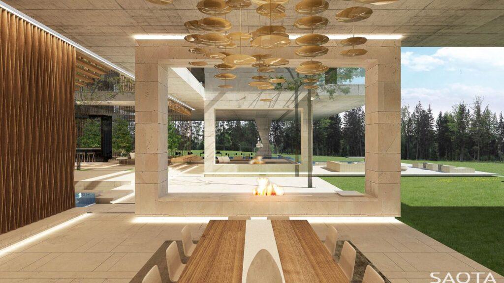 Conceptual Design of Nik Villa in Moscow, Russia by SAOTA
