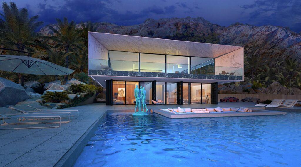 Conceptual Design of White Beach House by Alexander Zhidkov Architect