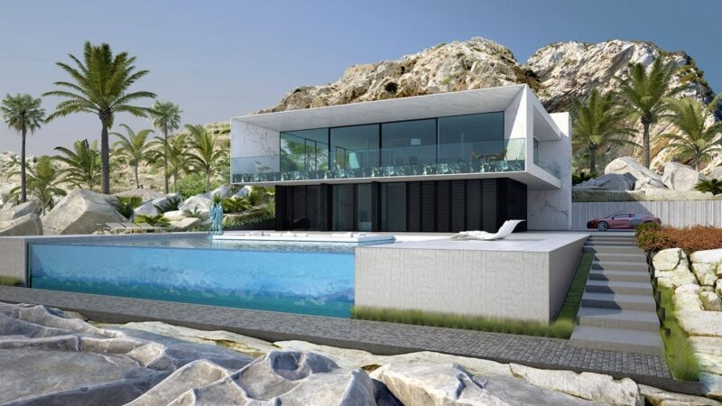 Conceptual Design of White Beach House by Alexander Zhidkov Architect