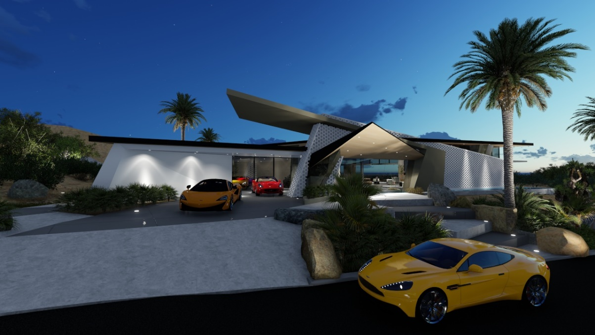 Contemporary Desert Modern Residence Concept by Brian Foster Designs