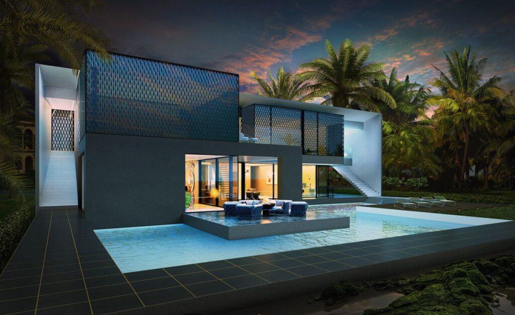 Design Concept of Villa on Palm Jumeirah by Alexander Zhidkov Architect