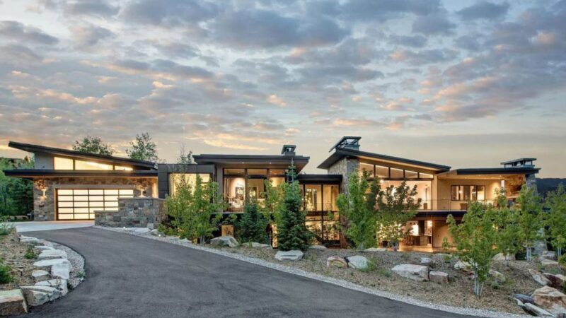 Exquisite Modern Park City Home for Sale with asking price $8.8 Million