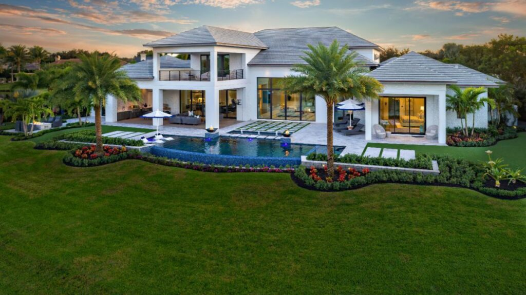 Florida Waterfront Golf Home built by Affinity Construction Group