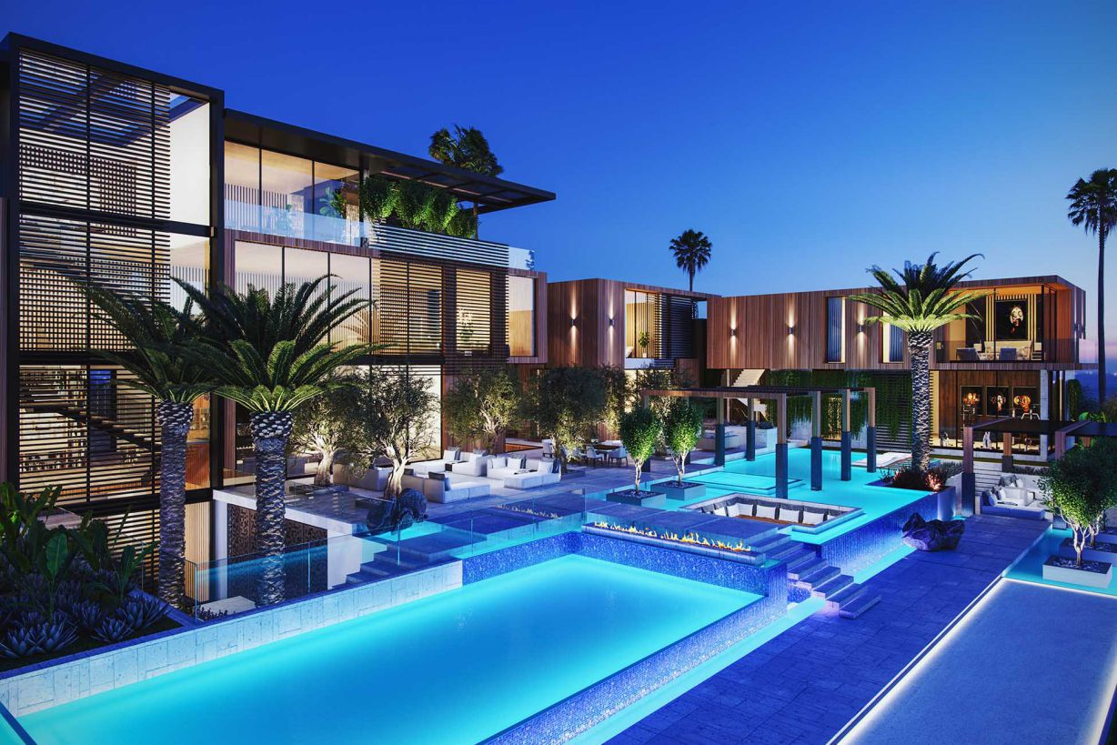 Hyderabad Modern Estate Concept in India by Bowery Design Group