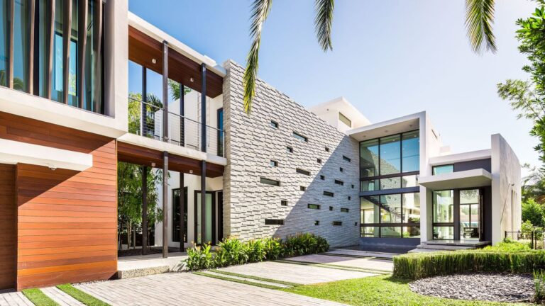 Lakeview Court Modern Home in Miami Beach by Borges Architects