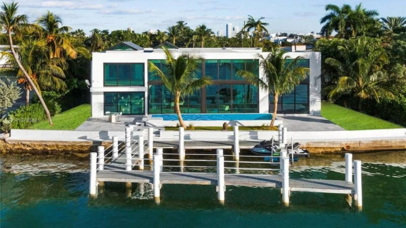 Miami Beach Florida Brand New Home on Market for $7.8 Million