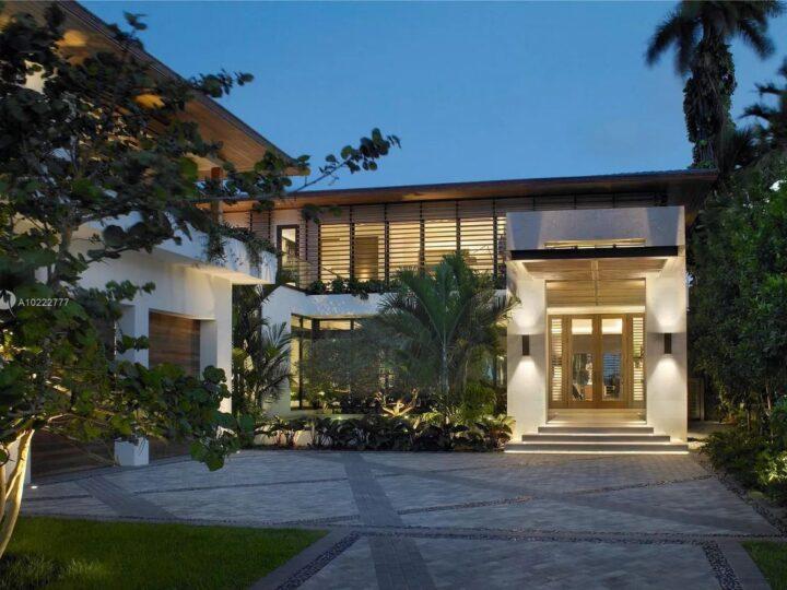 Miami Beach House on the Prestigious Sunset Islands for Sale at $19.9 Million