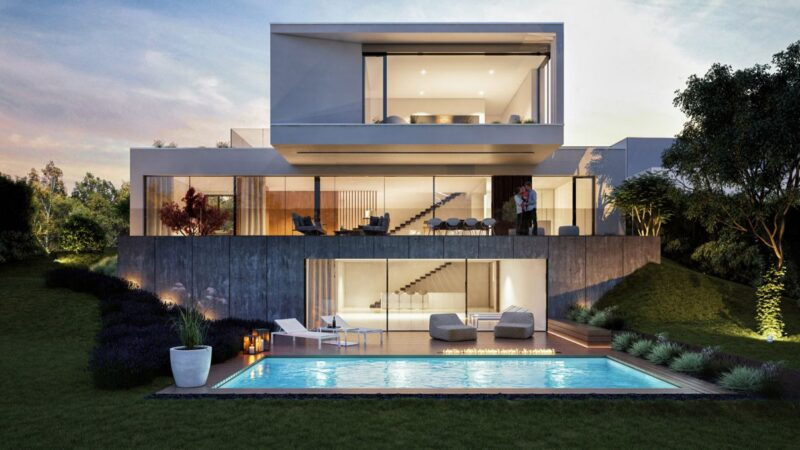 Modern House Concept in Budapest, Hungary by Toth Project