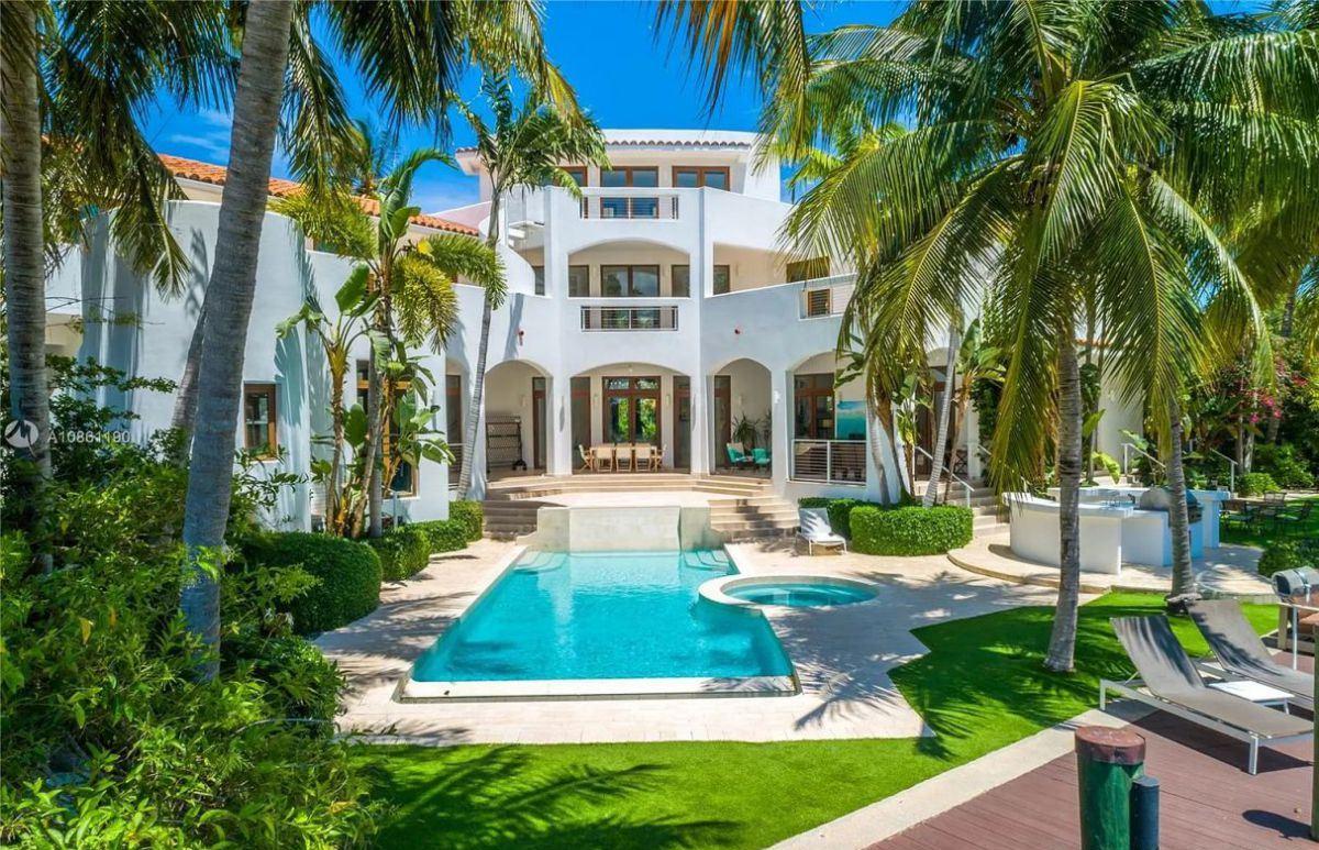 Modern Mediterranean Key Biscayne House for Sale