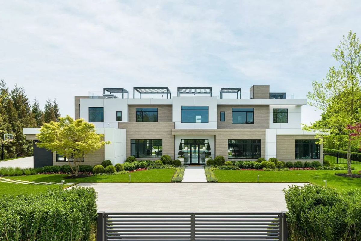 Newly Built Sandpiper Modern Estate in Riverhead for Sale at $25 Million