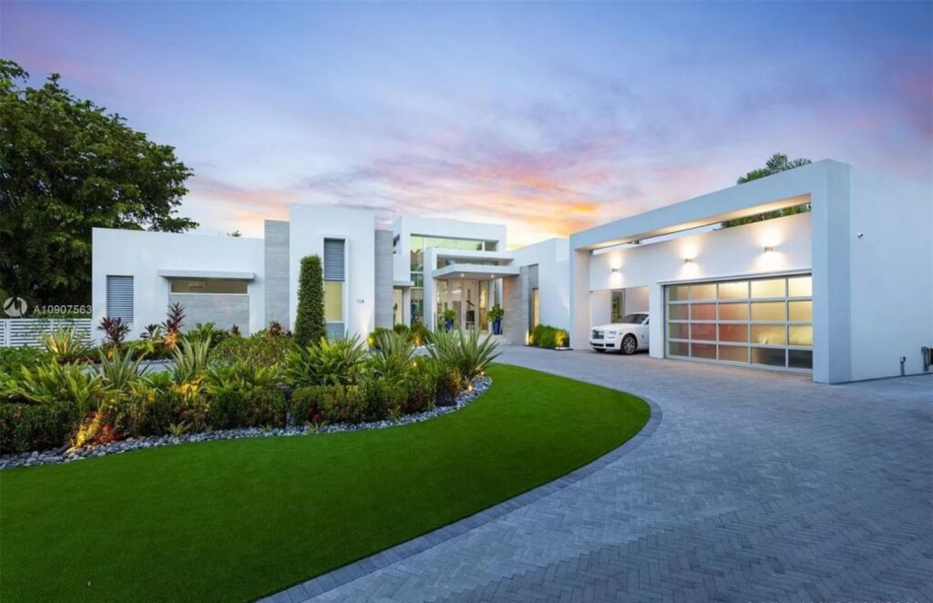 Pinecrest Home Inspired by European Architecture for Sale