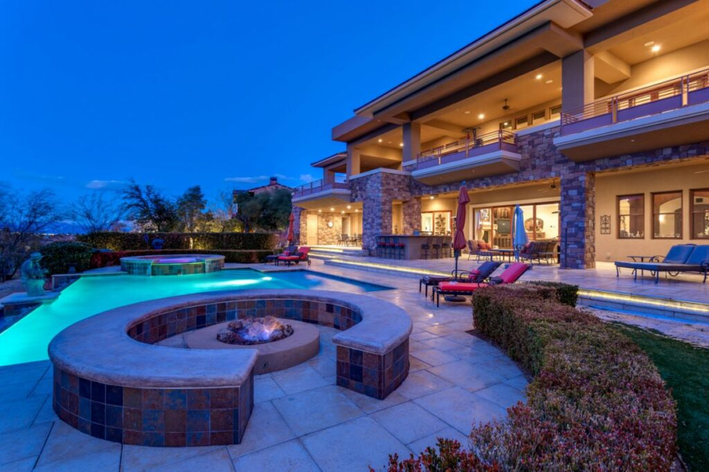 Remarkable Las Vegas Home at Promontory Ridge Drive for Sale at $5.99 Million