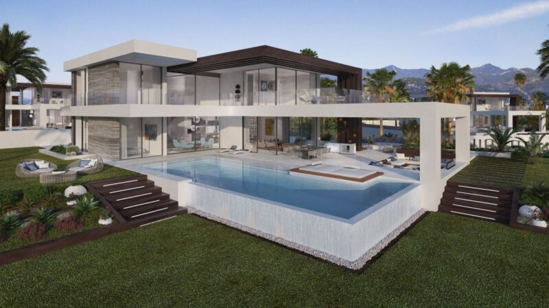 SeaView Villa Concept in Estepona, Spain with Panoramic View