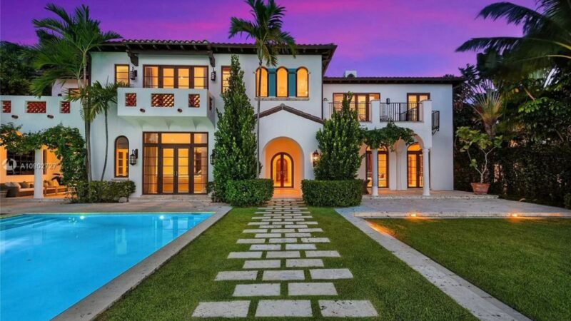 Spanish Style Home in Miami Beach on Market asks for $15.9 Million