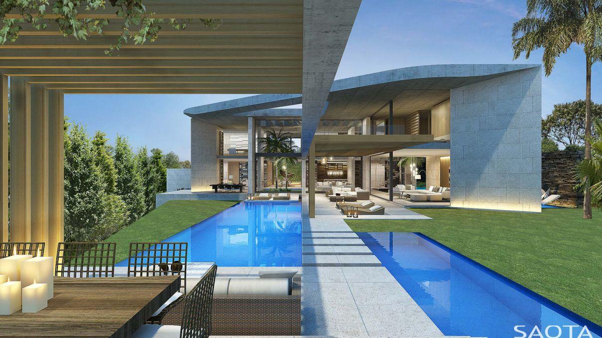 Villa Design Concept in Casablanca, Morocco by SAOTA