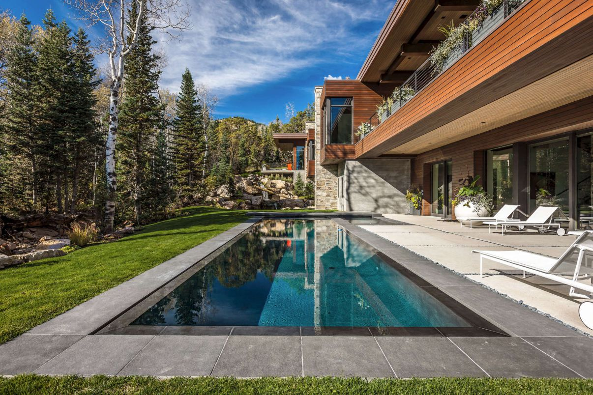 White Pine Canyon Home in Park City by Upwall Design Architects
