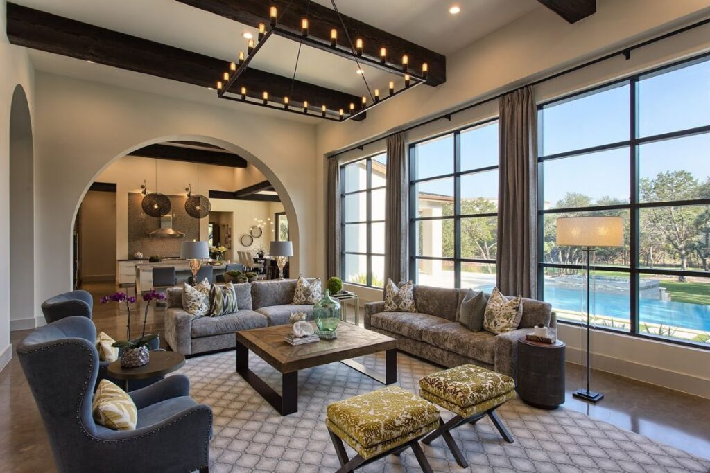 A Mediterranean Style Home in Fort Worth by Cornerstone Architects
