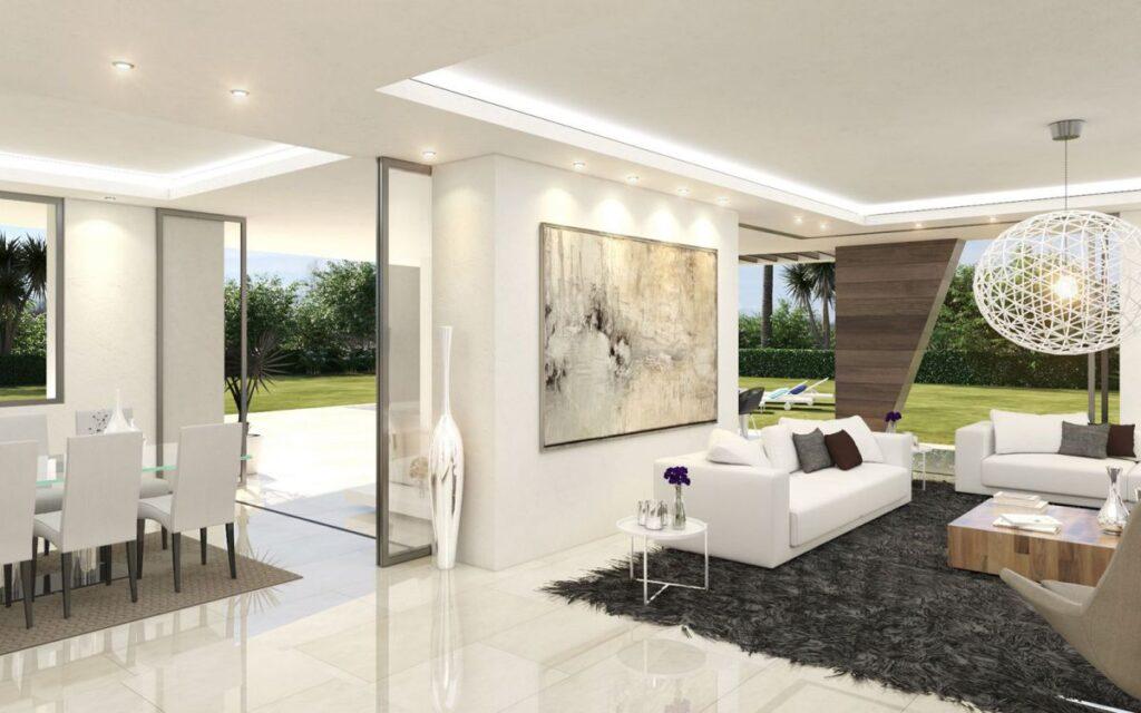 Concept of Contemporary Villa on the New Golden Mile, Marbella, Spain