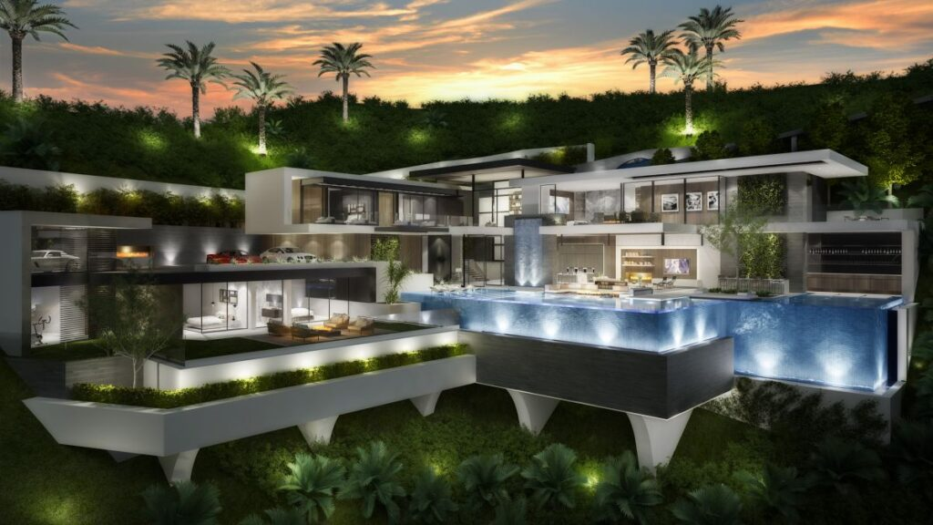 Conceptual Design of Los Angeles Modern Mansion by CLR Design Group