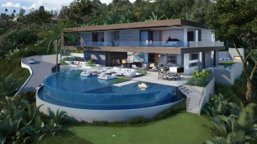 Hollywood Hills Stanley Modern Home Concept by IR Architects