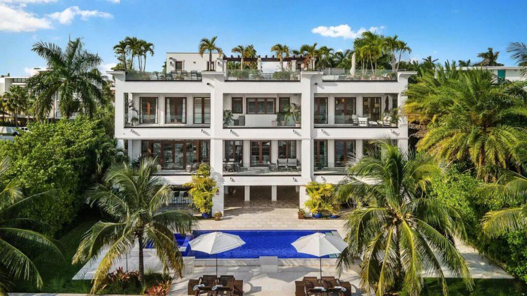 Unique Florida Waterfront Mansion in Miami Beach