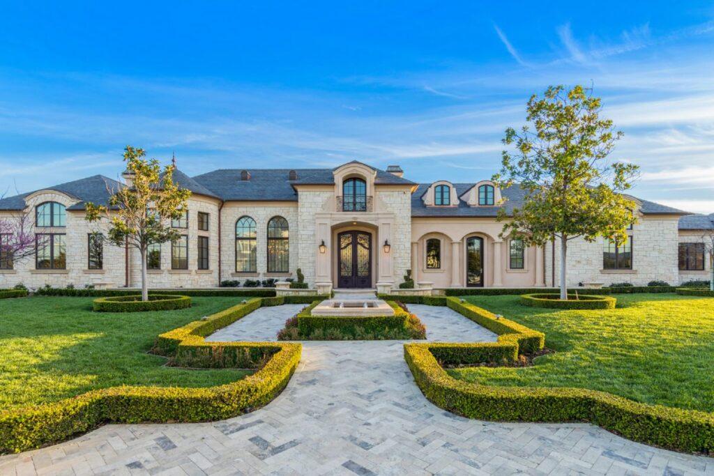 World Class French Modern Hidden Hills Home for Sale