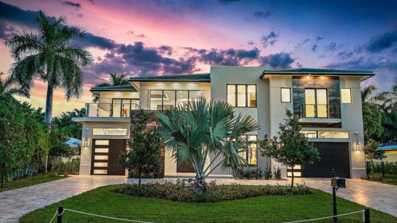 Fully Automated Smart Modern Home in Boca Raton for Sale $5,450,000