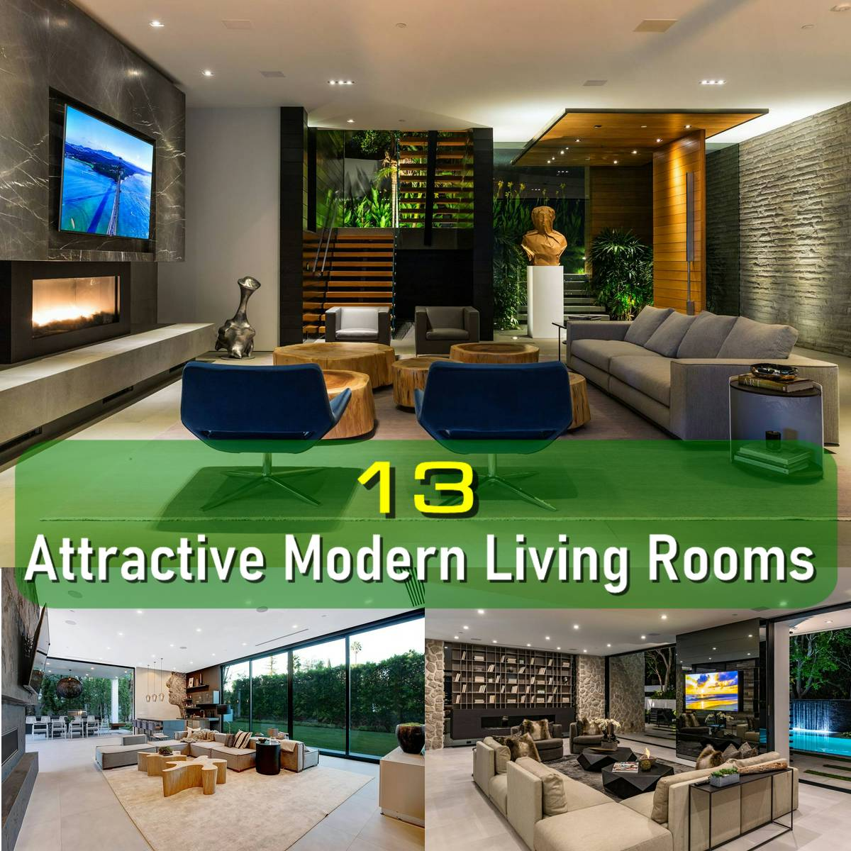 13 Modern Living Room Ideas with Irresistible Attraction