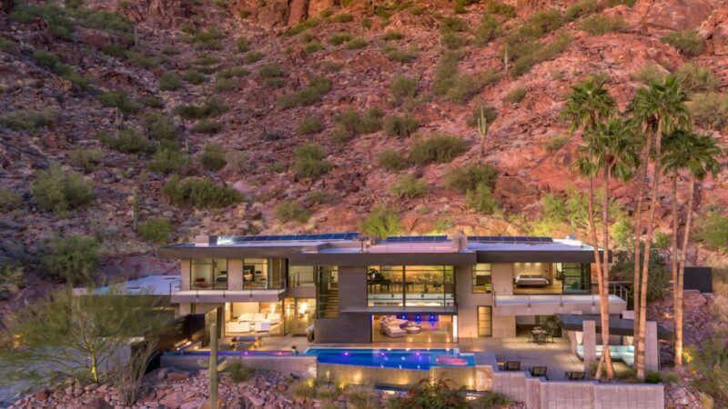 Magnificent Contemporary Glass Home in Phoenix for Sale at $5,995,000