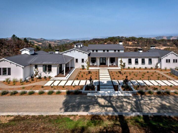Newly Healdsburg Farmhouse in California for Sale at $8,500,000