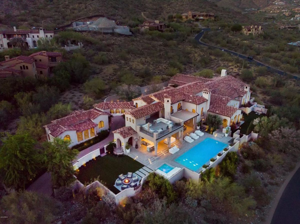 Scottsdale Home for Sale at $7,500,000 offers Mountain and City views