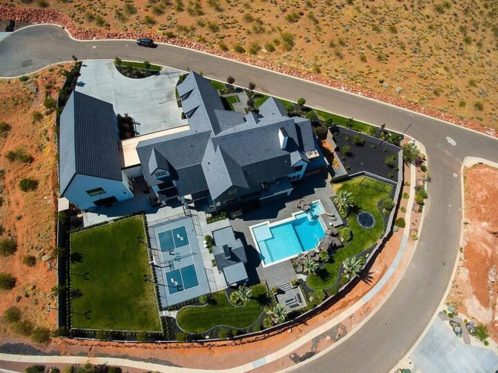 Utah Mountain Sweeping Views Home for Sale in St George at $4,500,000