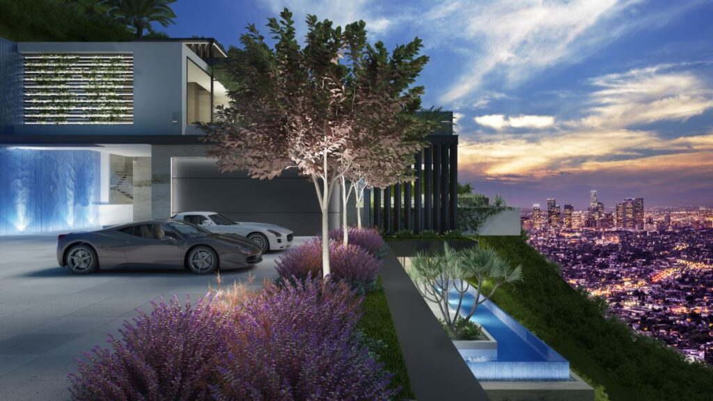 Amazing Design Concept of Sunset Plaza Mansion by CLR Design Group