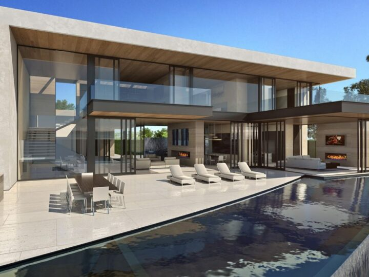An Architectural Concept of Beverly Hill Mansion by McClean Design
