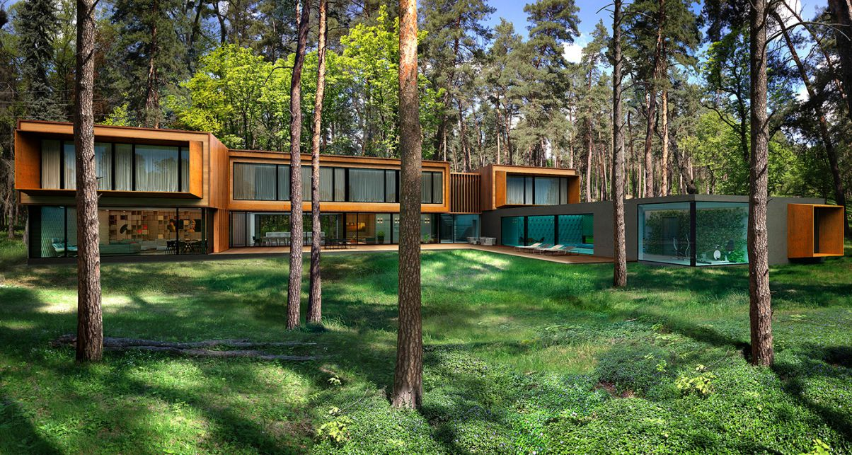 Conceptual Design of House in Moscow by Alexander Zhidkov Architect