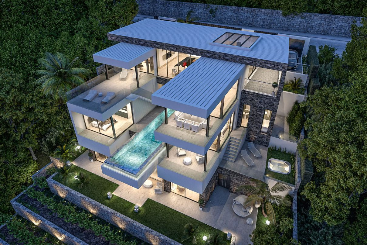 Extraordinarily Conceptual Design of Villa El Rosario 483 in Spain