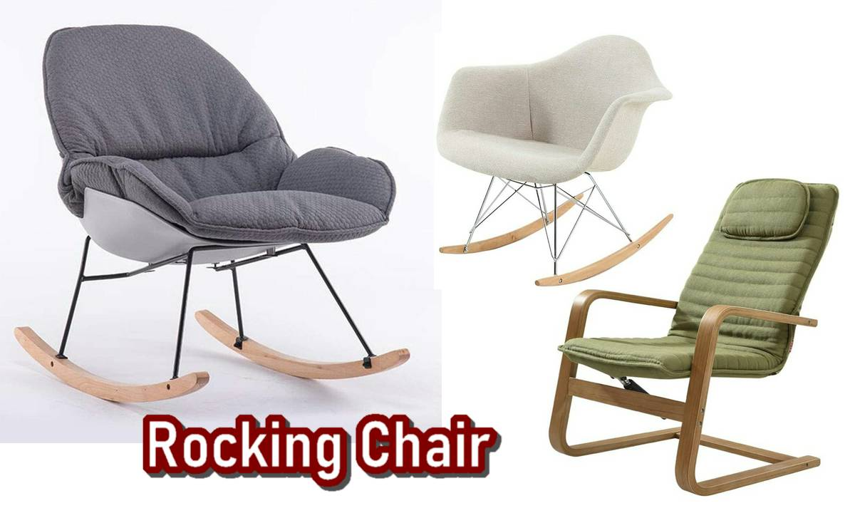 Relaxing in Living Area with 12 Creative Comfortable Rocking Chairs