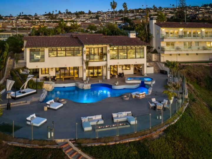 The California Mansion is a massive oceanfront property with expansive panoramic ocean views from every vantage point now available for sale. This mansion located at 417 Paseo De La Playa, Redondo Beach, California; offering 10 bedrooms and 15 bathrooms with over 15,700 square feet of living spaces.