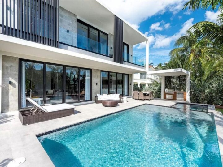 Brand New Miami Beach Home with Open Floor hits Market