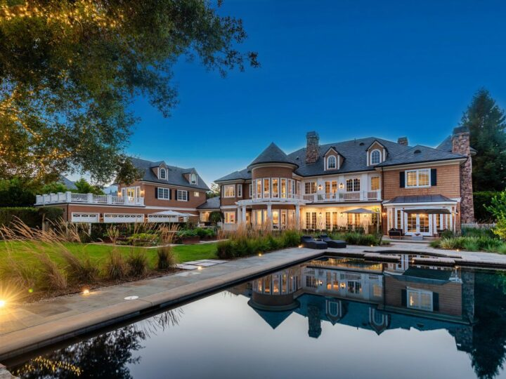 The Hamptons Style House is a Epic custom landmark estate with complete privacy and unobstructed fairway, lakes and mountain views now available for sale. This home located at 224 W Stafford Rd, Thousand Oaks, California; offering 5 bedrooms and 8 bathrooms with over 10,700 square feet of living spaces.