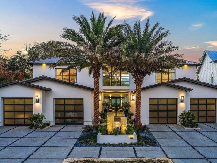 The Florida House is a beautifully designed property newly built in 2020 details juxtaposed finely appointed finishes now available for sale. This home located at 142 Seagrove Village Dr, Santa Rosa Beach, Florida; offering 5 bedrooms and 7 bathrooms with over 5,200 square feet of living spaces.