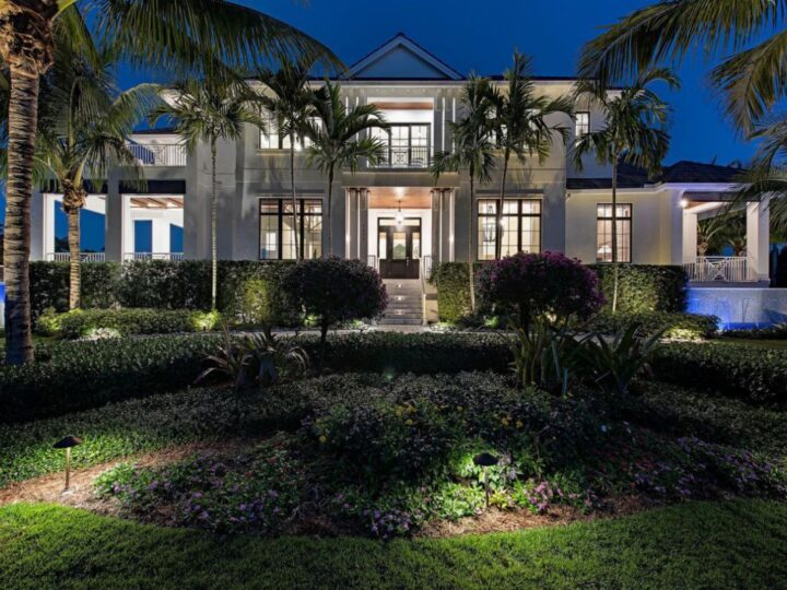 Beautifully Coastal Contemporary Home in Naples selling for $7,995,000