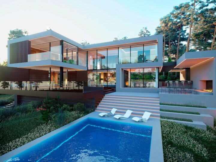 Design Concept of Dream House in Forest by Alexander Zhidkov Architect