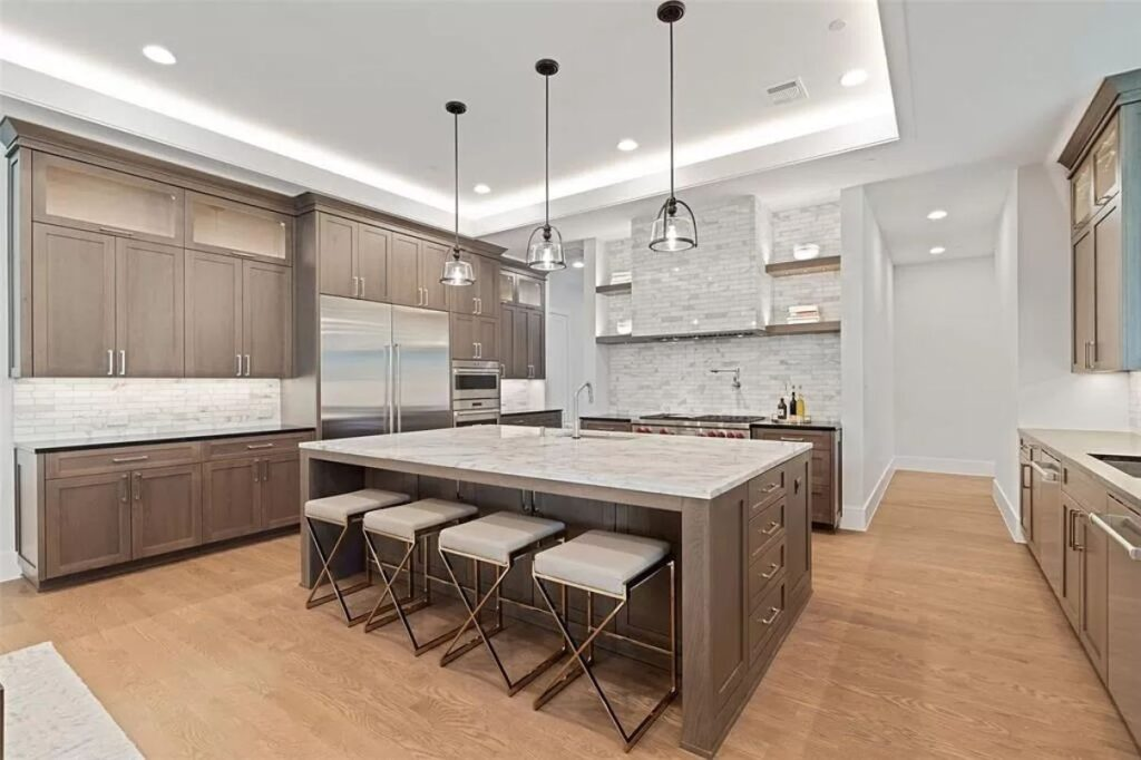 The Dallas Home is a newly built Twin Oaks residence offers exceptional details, custom finishes now available for sale. This home located at 4213 Willow Grove Rd, Dallas, Texas; offering 5 bedrooms and 7 bathrooms with over 6,700 square feet of living spaces.