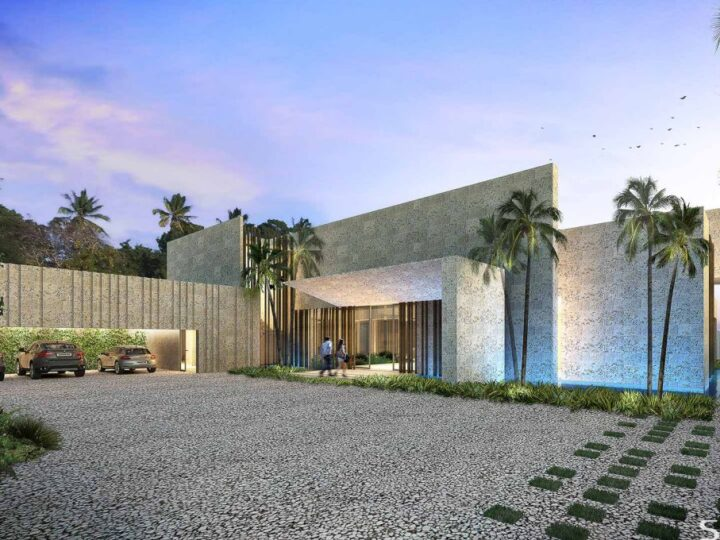 Conceptual Design of La Paz Villa is a project located in Punta Cana, Dominican Republic designed in concept stage by SAOTA in Modern style; it offers luxurious modern living. This home located on beautiful lot with amazing views and wonderful outdoor living spaces.